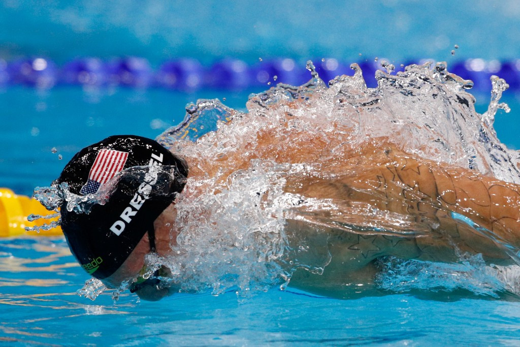 Caleb Dressel equalled Michael Phelps' record of seven gold medals at a single World Aquatics Championships ©Getty Images