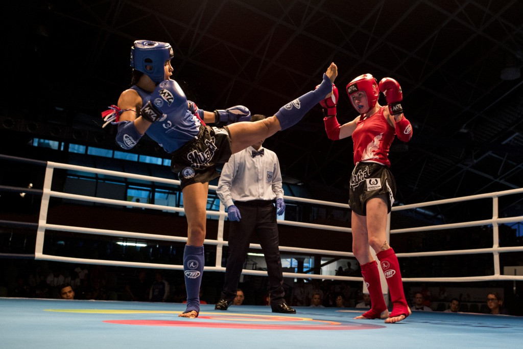 Sporting action concluded today and 11 sets of medals were awarded in muaythai ©IWGA