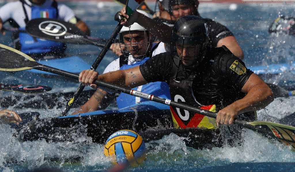 Germany won both the men's and women's canoe polo gold medals ©IWGA