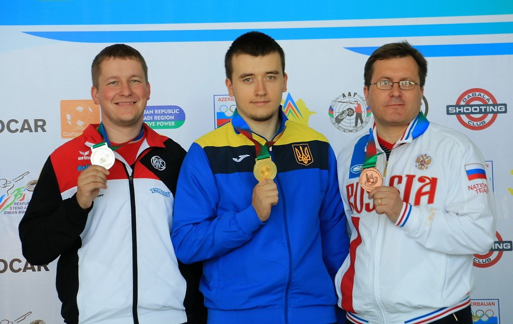 Ukrainian sets world record to win European Shooting Championships gold medal