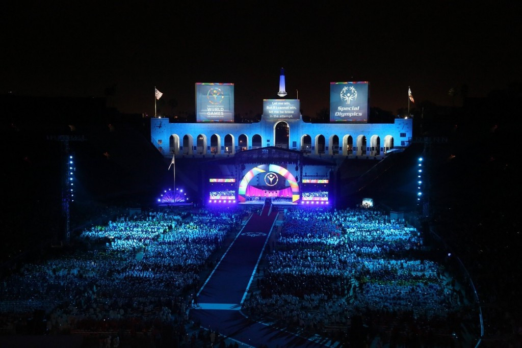 The Special Olympics World Games Opening Ceremony was held at the Los Angeles Memorial Coliseum