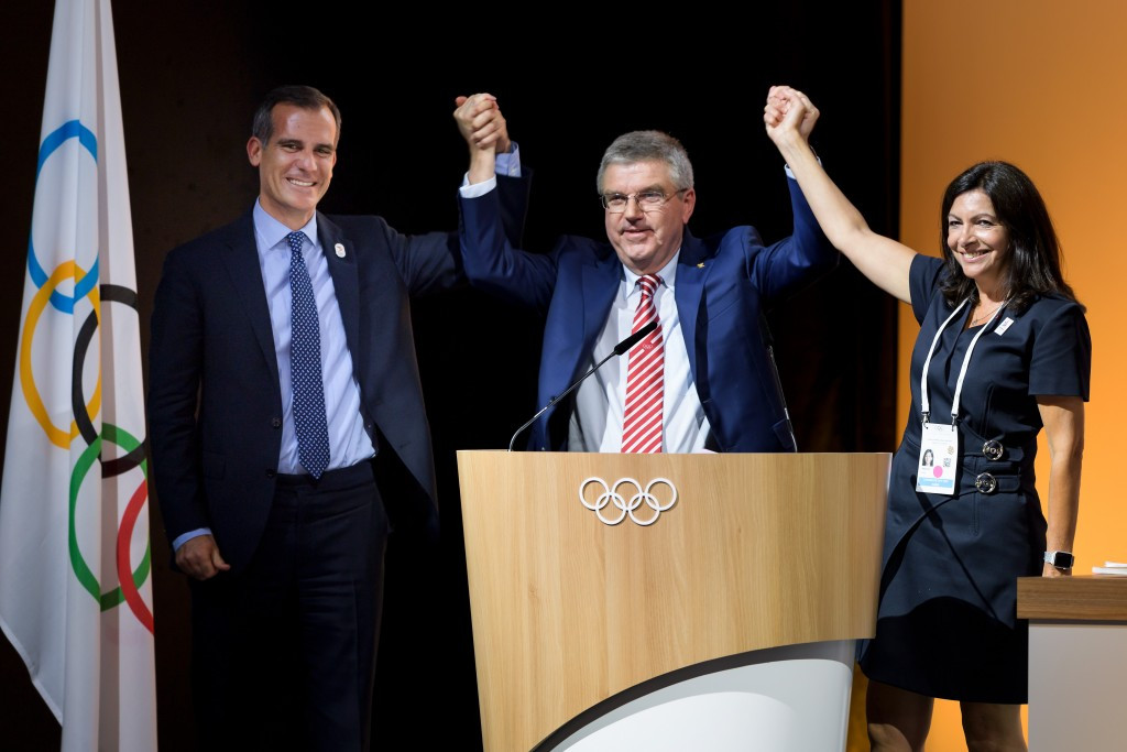 Los Angeles agree to host 2028 Olympics as Paris get 2024