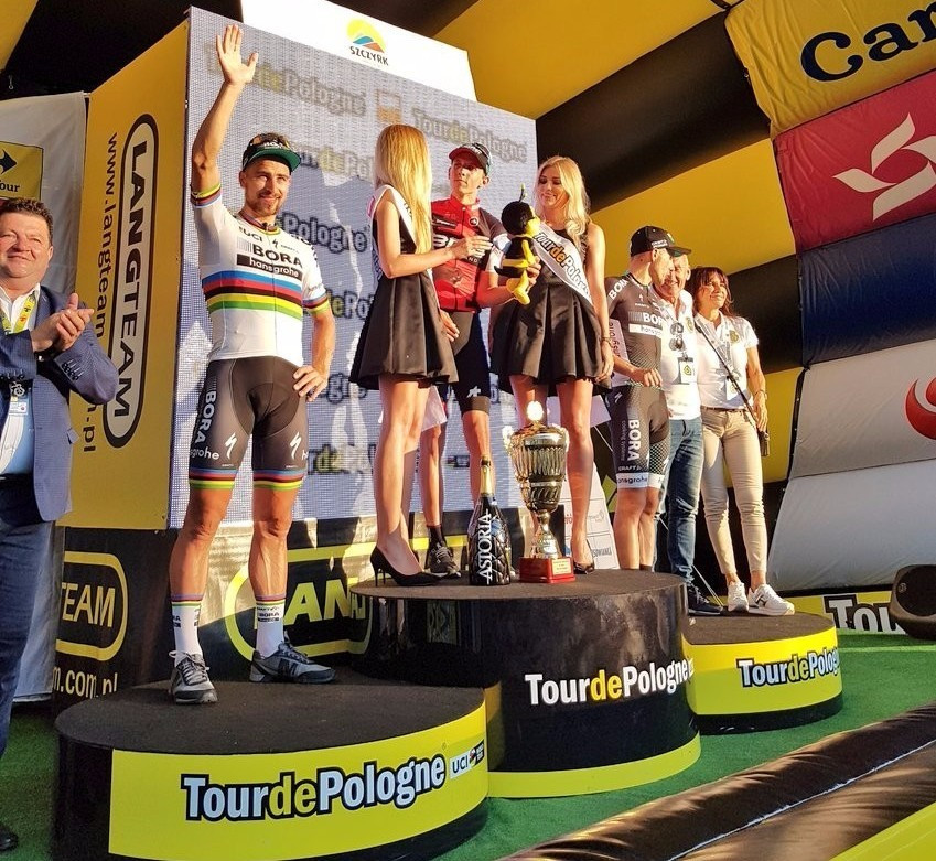 Dylan Teuns claimed victory on the third stage of the Tour of Poland ©Twitter/Tour de Pologne