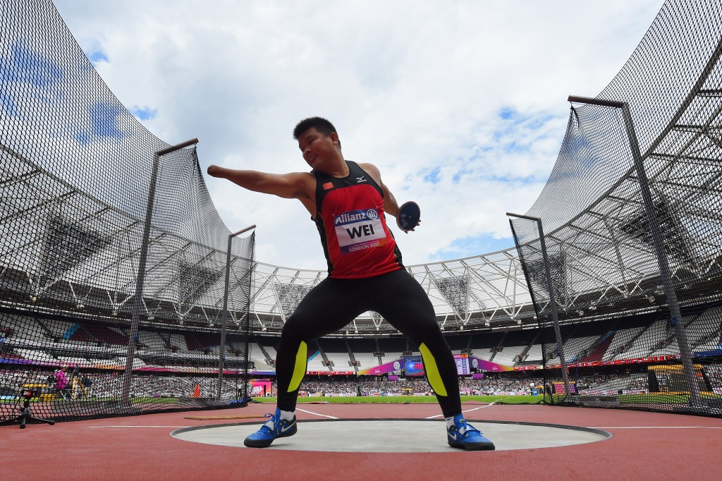 Shot putter Wei Enlong was one of 30 gold medallists for China at the 2017 World Para Athletics Championships in London ©Getty Images