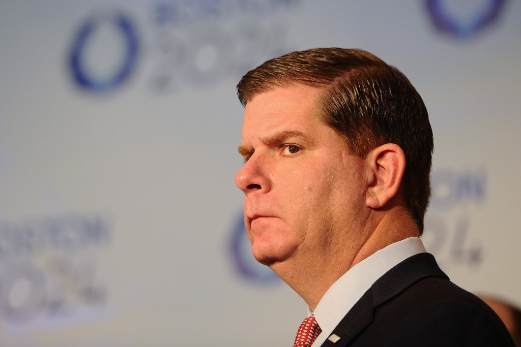 Boston Mayor Marty Walsh had resisted pressure from the United States Olympic Committee to sign the host city contract for 2024 ©Getty Images