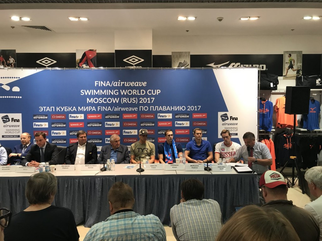 FINA Swimming World Cup season to begin in Moscow
