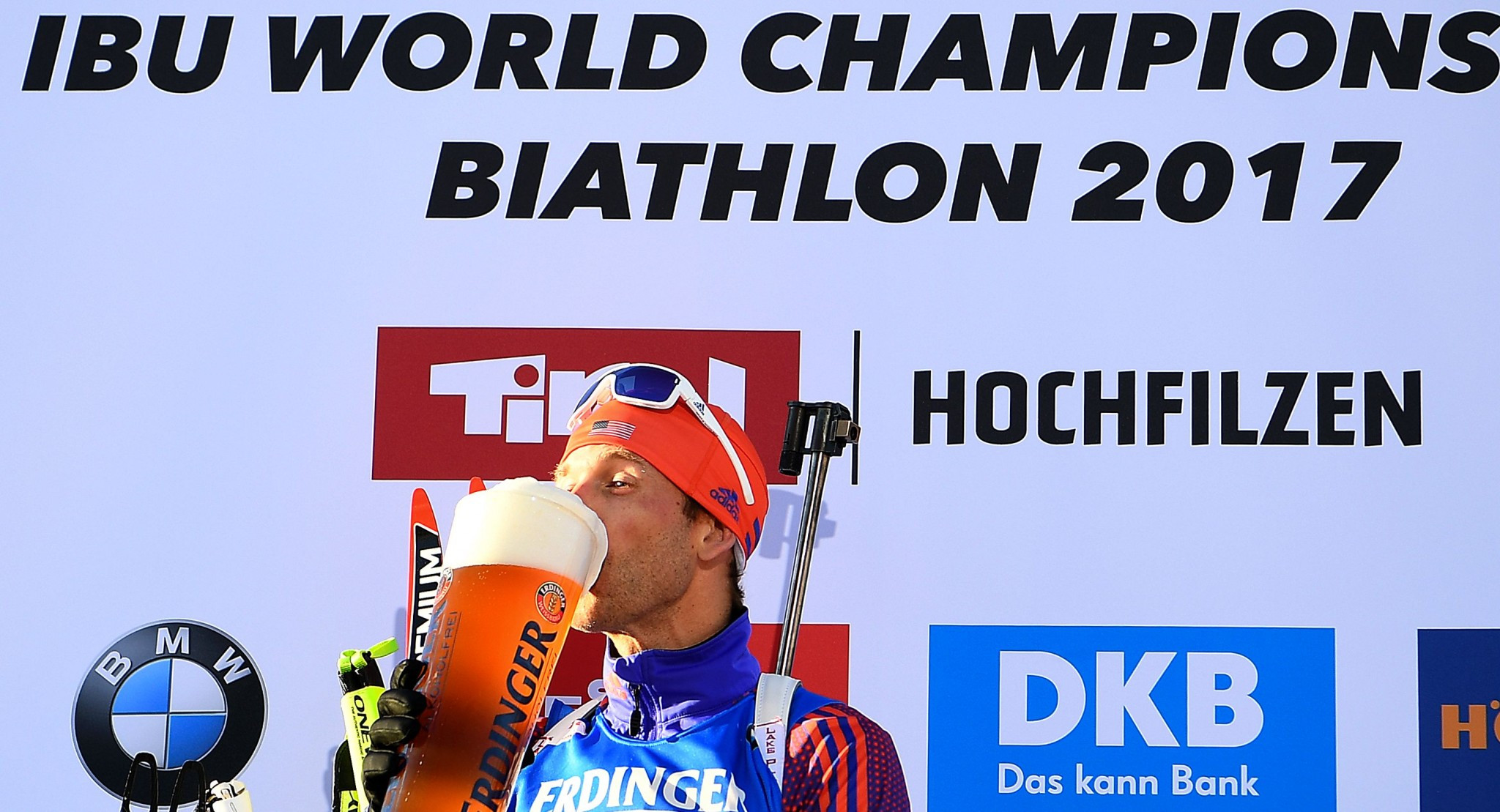 Lowell Bailey made history as the first American winner of IBU World Championship gold ©Getty Images