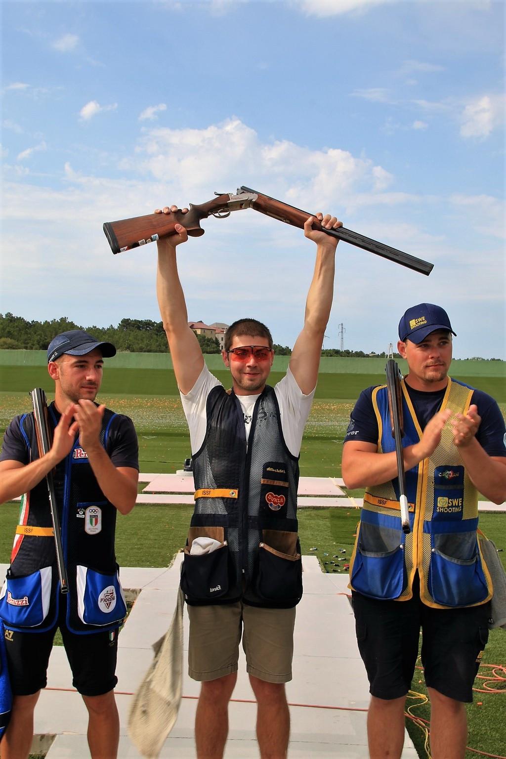 Czech Republic's Milos Slavicek won the men's skeet event ©European Shooting Confederation