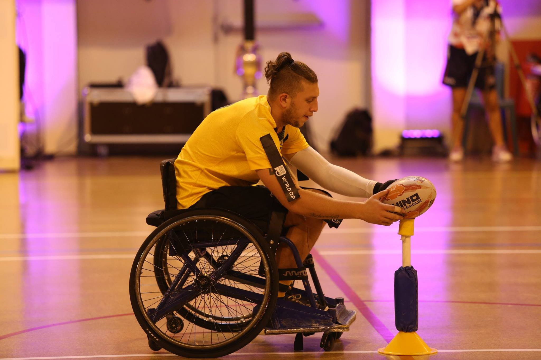 The sport includes conversions, as with the able-bodied game ©Wheelchair Rugby League Australia/Facebook