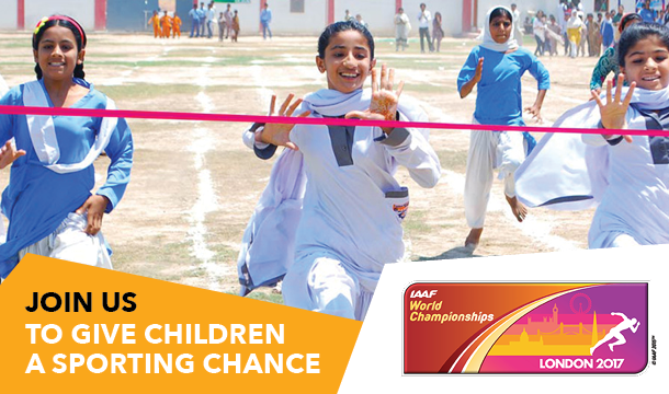 Right To Play chosen as charity partner of IAAF World Championships