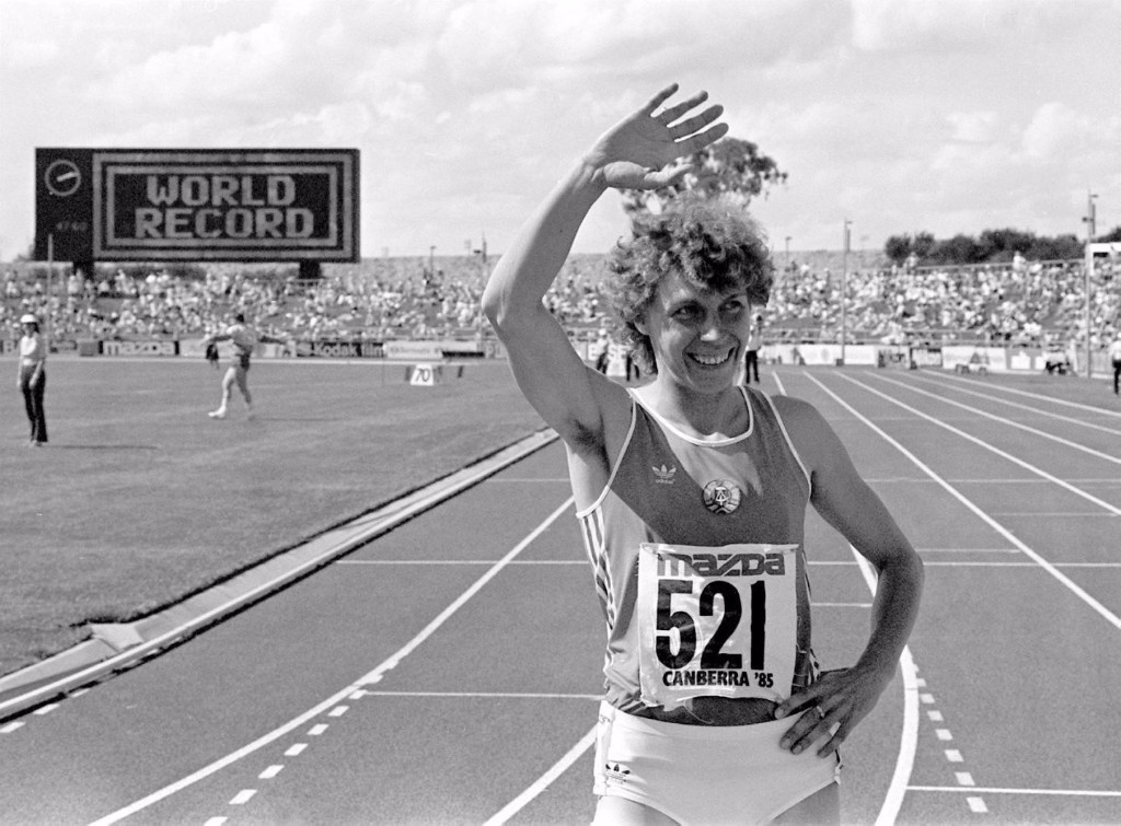 East Germany's Marita Koch, controversial holder of the women's world 400 metres record since 1985, is mentioned in Stasi files as having used banned drugs, which should be investigated, Paula Radcliffe beleives ©Getty Images