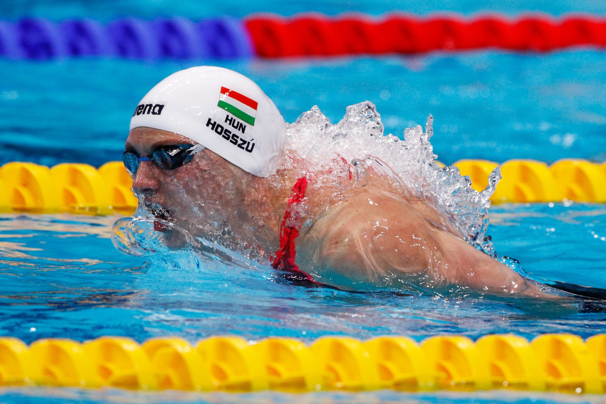 Katinka Hosszu won backstroke and medley titles in Moscow ©Getty Images