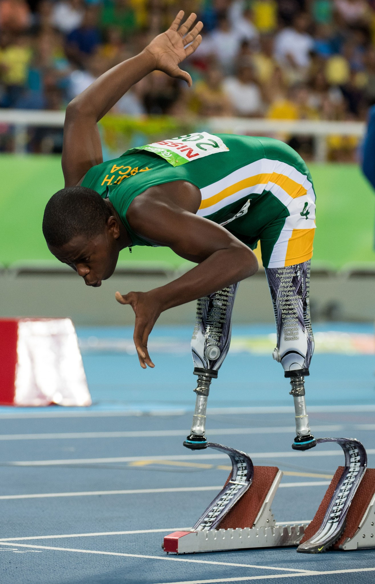 Rio 2016 Paralympic silver medallist Ntando Mahlangu is among the leading athletes set to compete at the inaugural World Para Athletics Junior Championships in Nottwil ©Getty Images
