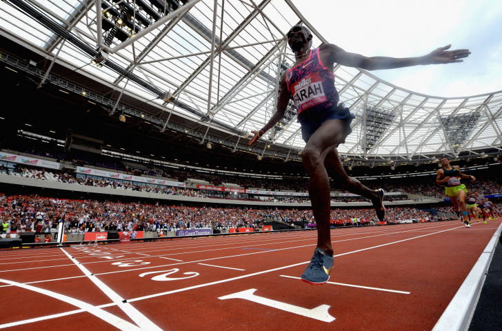 Britain's double world and Olympic 5,000 and 10,000 meres champion Sir Mo Farah will return to the same London Olympic Stadium to make his track championship farewell ©Getty Images