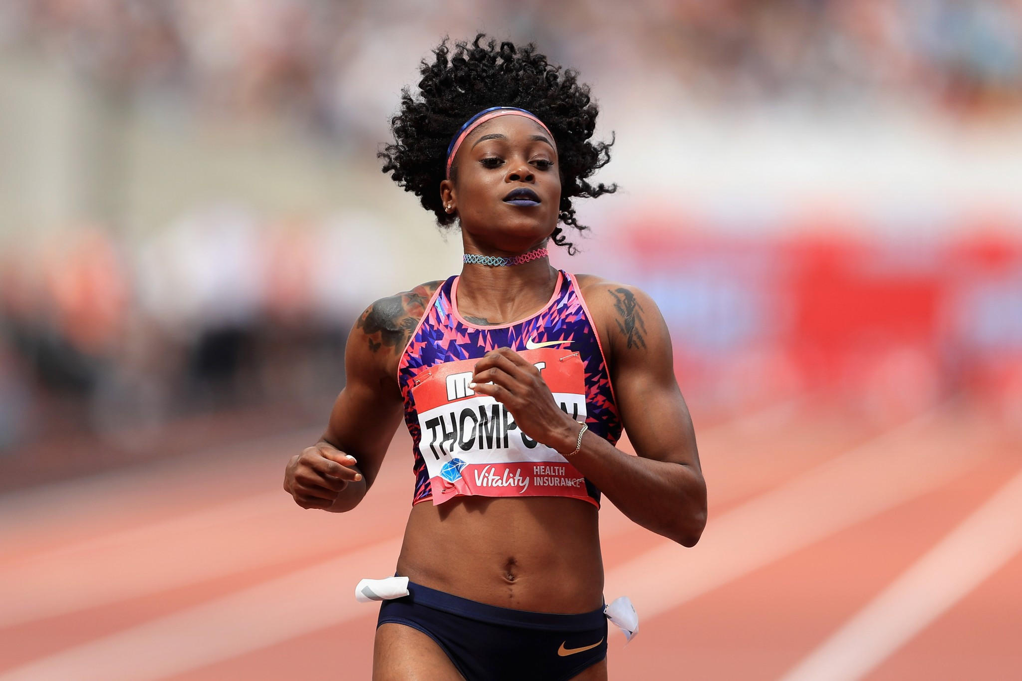 Jamaica's Olympic 100 and 200m champion Elaine Thompson will seek a first individual world title in London ©Getty Images