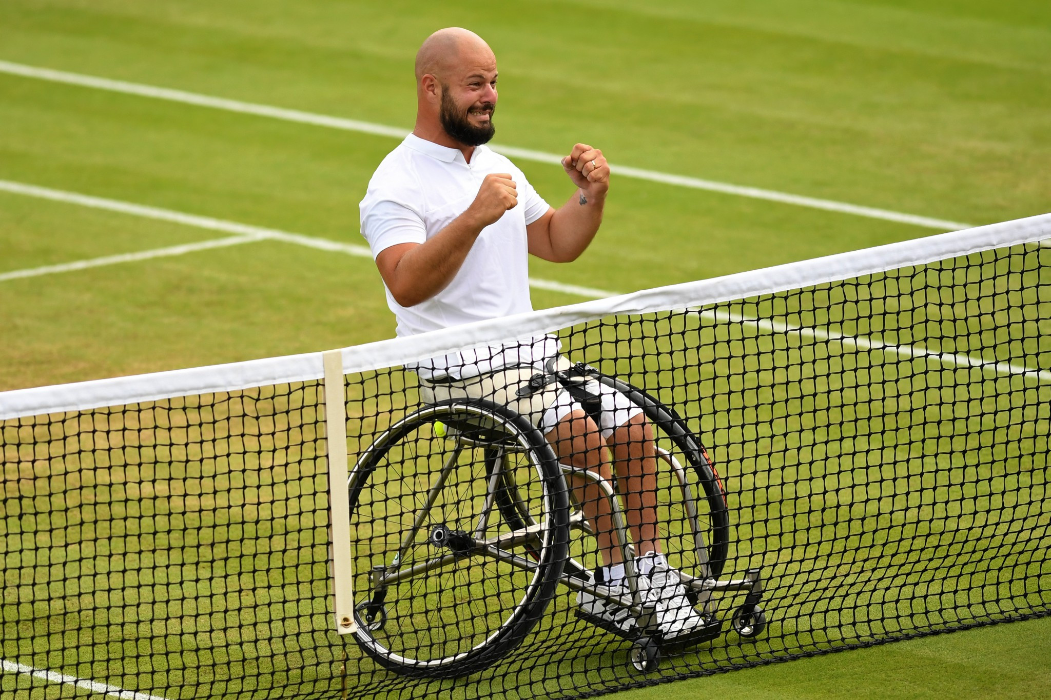 Stefan Olsson is shortlisted for the July award after his Wimbledon victory ©Getty Images
