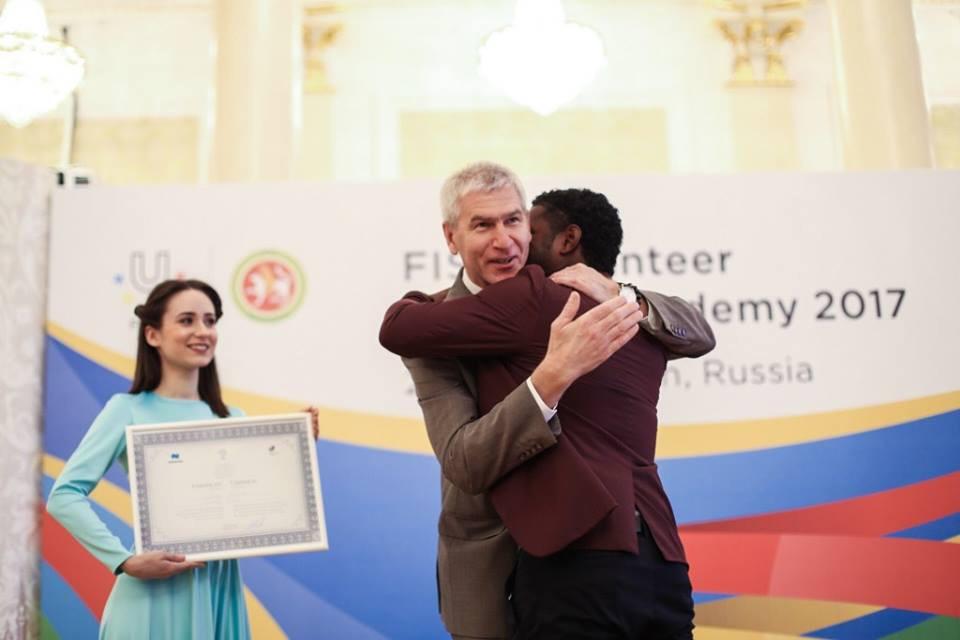 Timothy King-Derry received his internship at the FISU Volunteer Leaders Academy in Kazan last month ©FISU