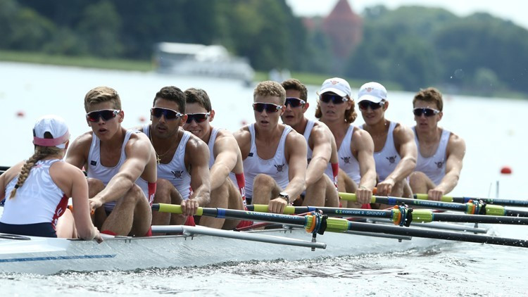 Germany edge United States in men's eights heats at World Rowing Junior Championships