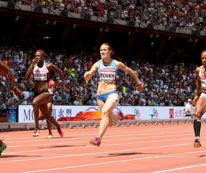 Olesya Povkh is among two sprinters to have failed drugs tests ©Getty Images