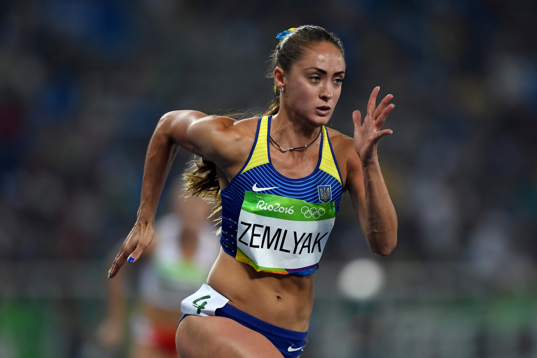 Ukraine's Olha Zemlyak pictured competing in the 400 metres at last year's Olympic Games in Rio de Janeiro ©Getty Images