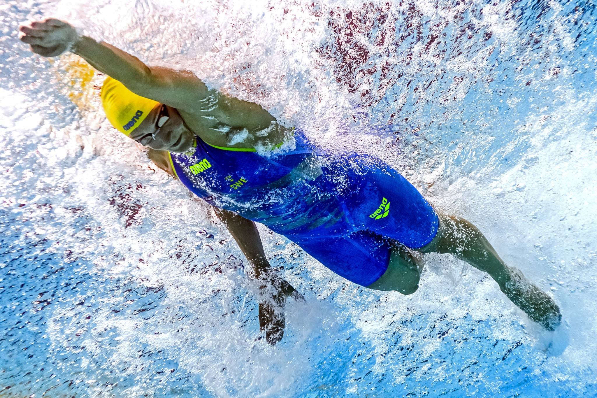 Sweden's Sarah Sjöström broke the women's 100m freestyle world record today ©Getty Images