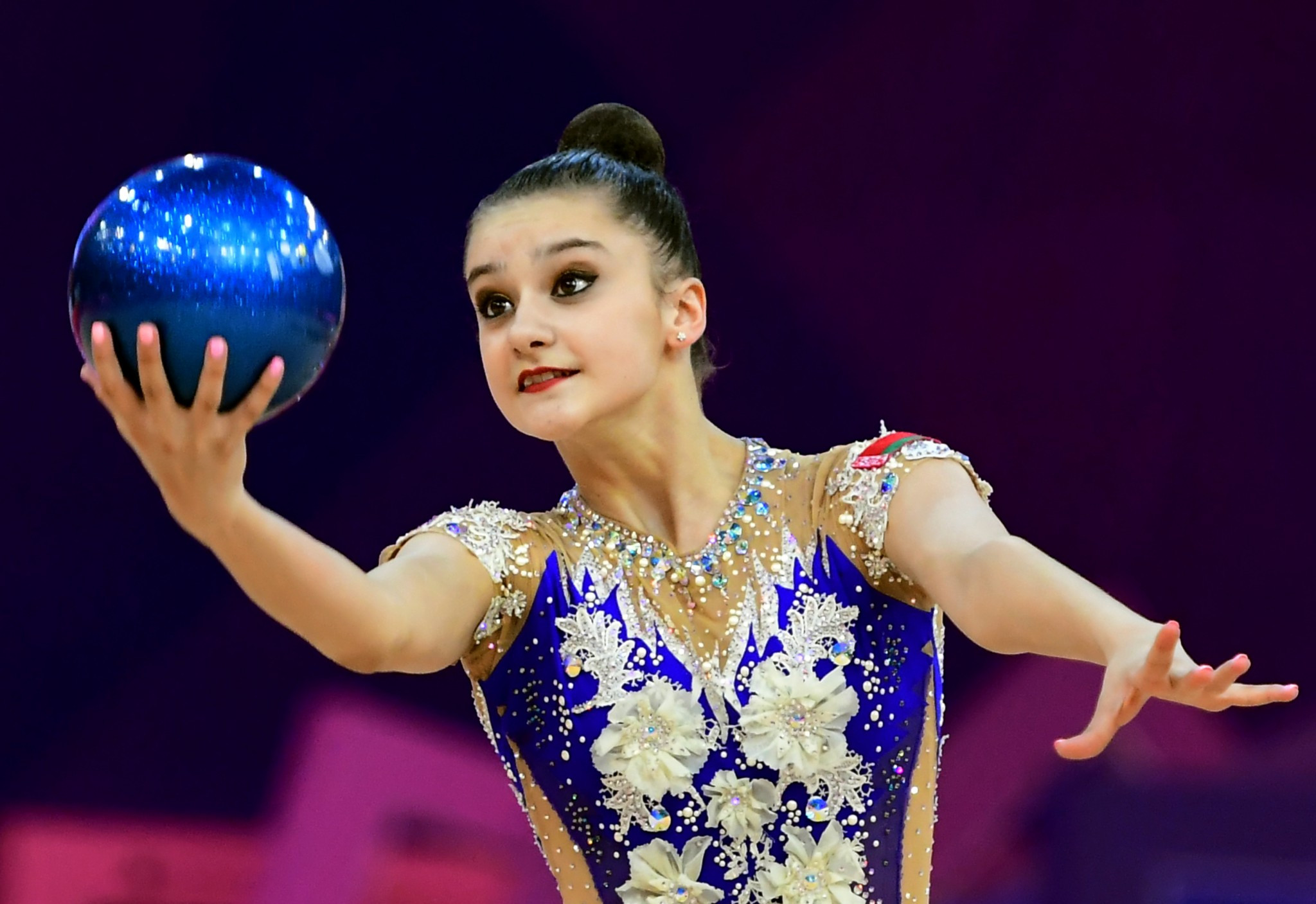 Alina Harnasko is another gymnast set to feature on home soil in Belarus ©Getty Images