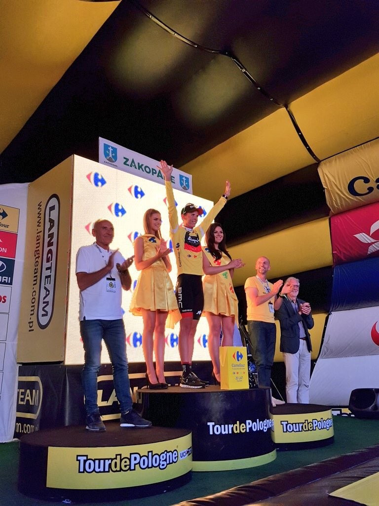 Belgium's Dylan Teuns clinched the overall victory at the Tour of Poland today ©Dylan Teuns/Twitter