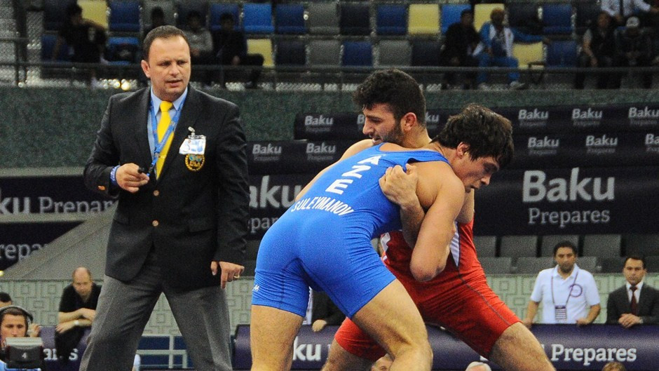 Azerbaijan earn five freestyle golds to conclude Baku 2015 wrestling test event