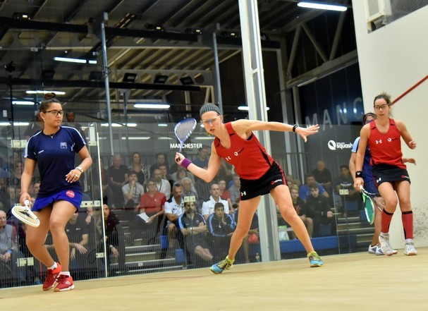 Pairs from England and New Zealand enjoyed success in the women's and mixed events ©WSF World Doubles Championships