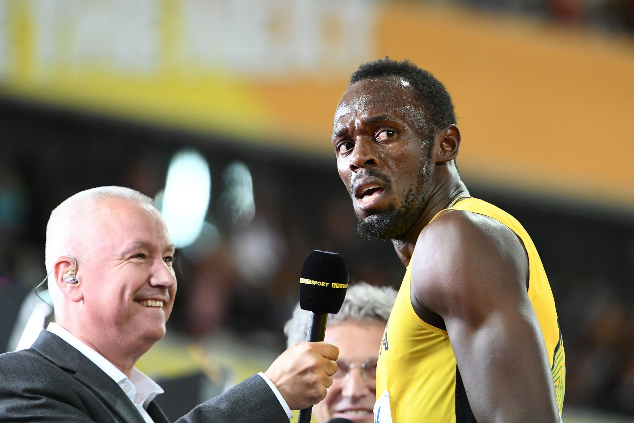 Usain Bolt was not thrilled with the manner of his 100m first round victory in London ©Getty Images