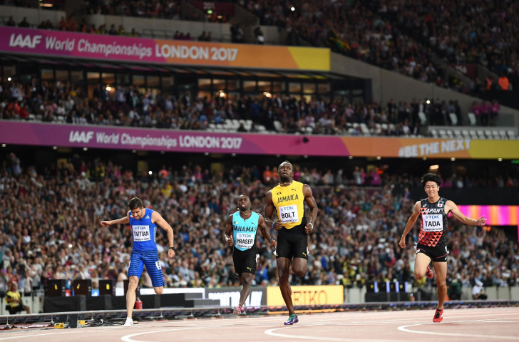 Usain Bolt recovered from a poor start to win in 10.07 and reach the men's 100m at the World Championships ©Getty Images