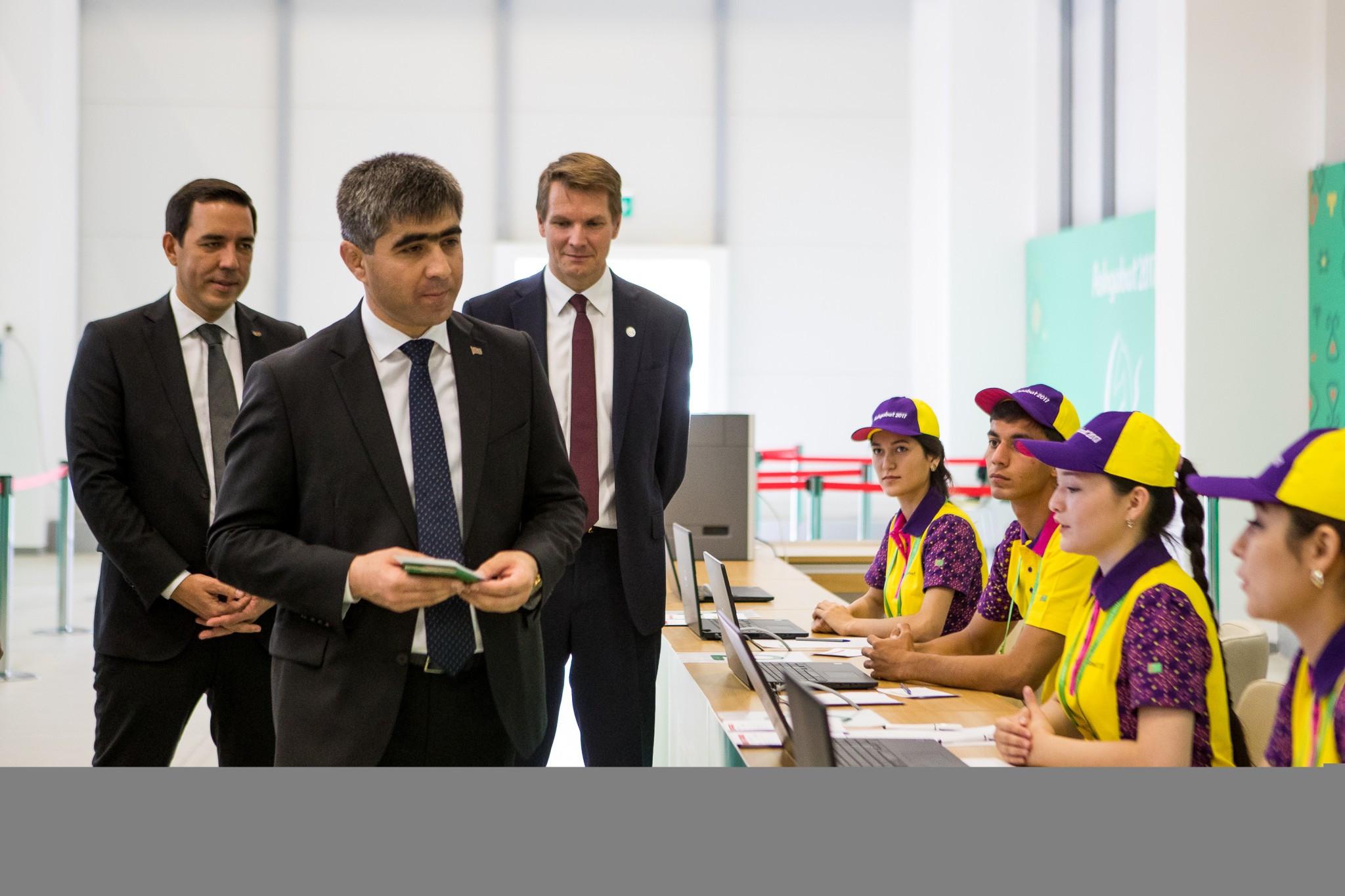 Ashgabat 2017 open Uniform Distribution and Accreditation Centre