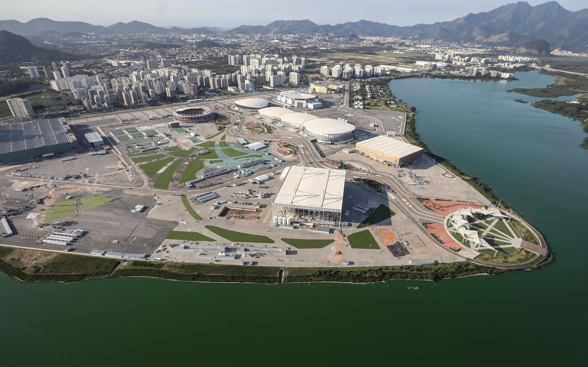 The Olympic Park in Barra de Tijuca one year on from the Olympic Games ©Getty Images