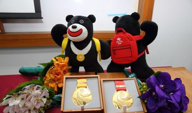 Universiade winners at Taipei 2017 will receive a copy of the mascot Bravo, locally grown orchids, as well as their medals in specially made bamboo boxes ©Taipei 2017