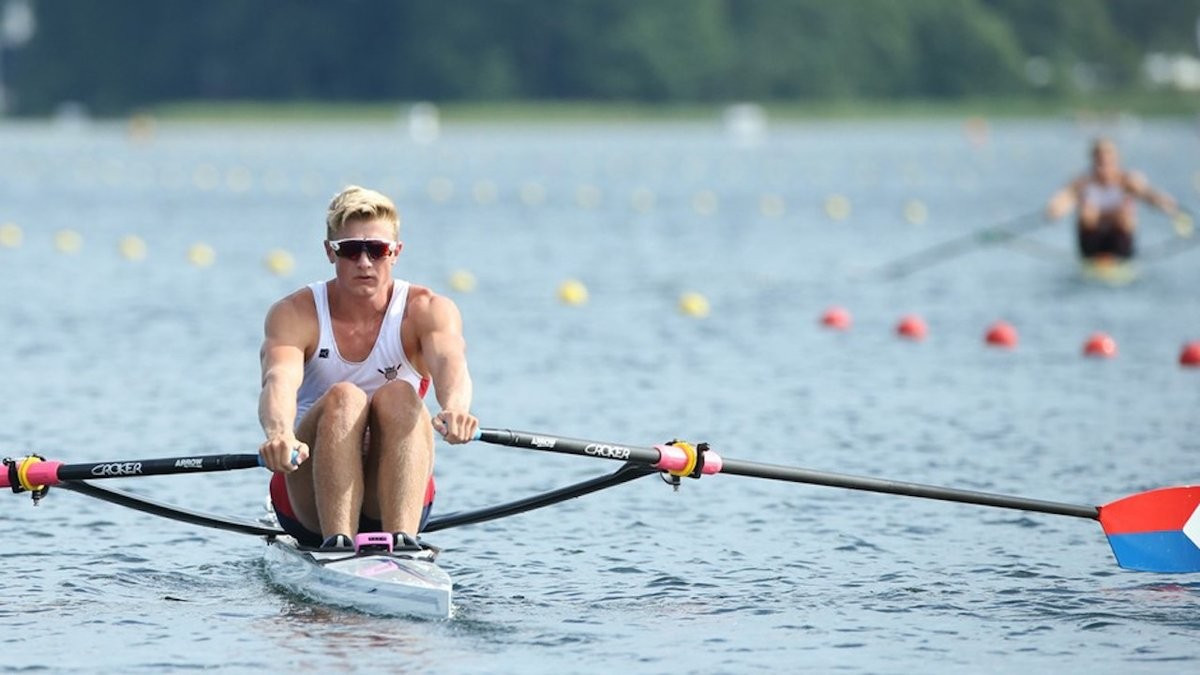 America's Clark Dean impressed in the single sculls ©Getty Images