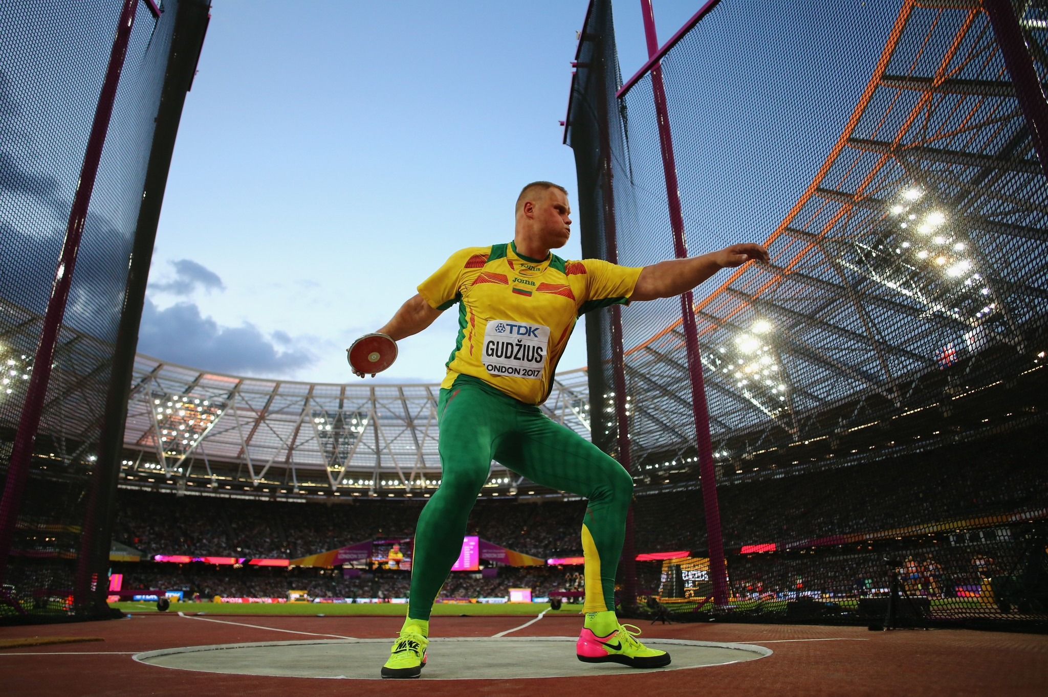 Lithuana's Andrius Gudzius won the discus by two centimetres ©Getty Images
