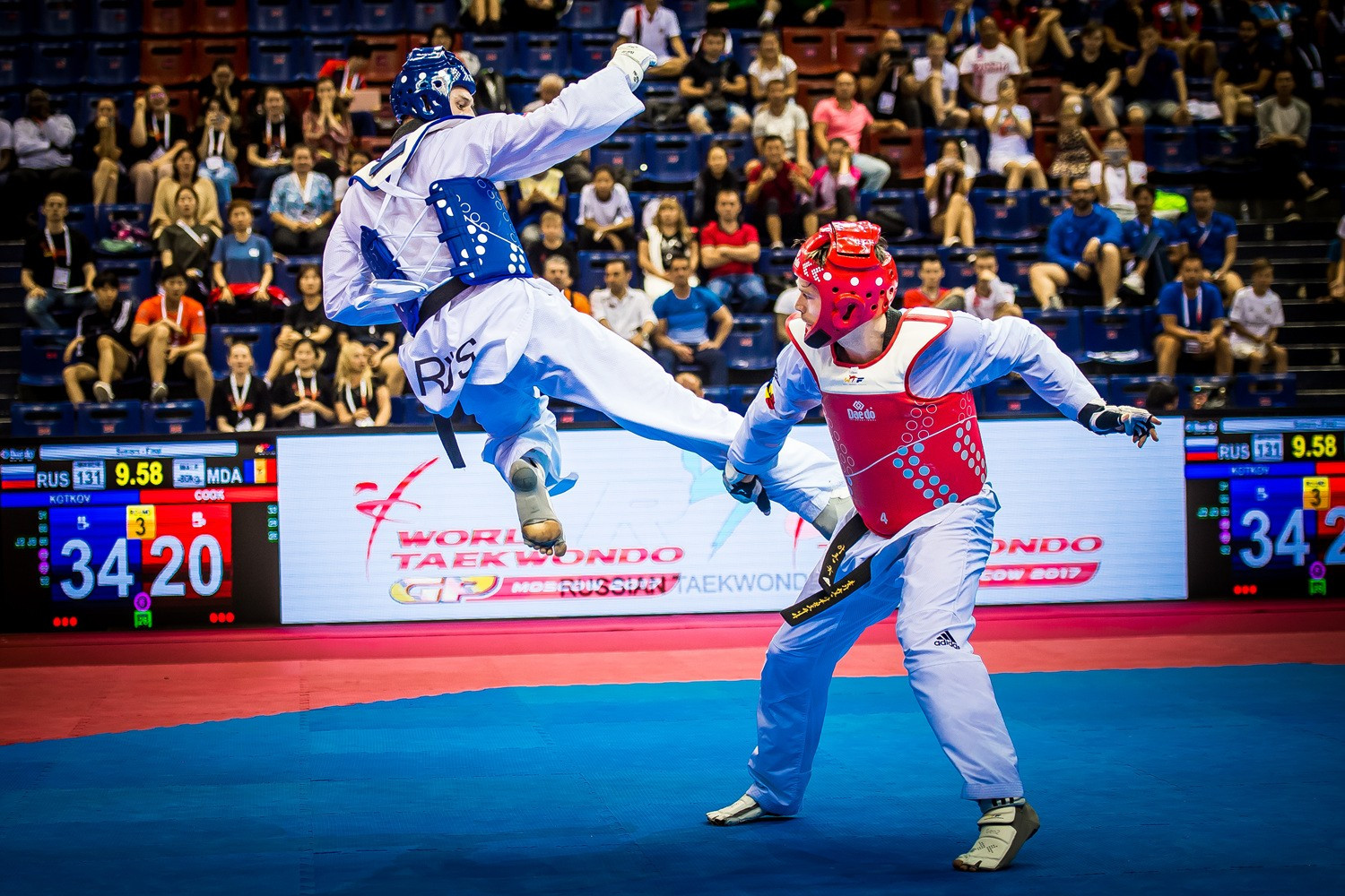 Kotkov overcomes Cook to claim thrilling gold medal at World Taekwondo Grand Prix in Moscow