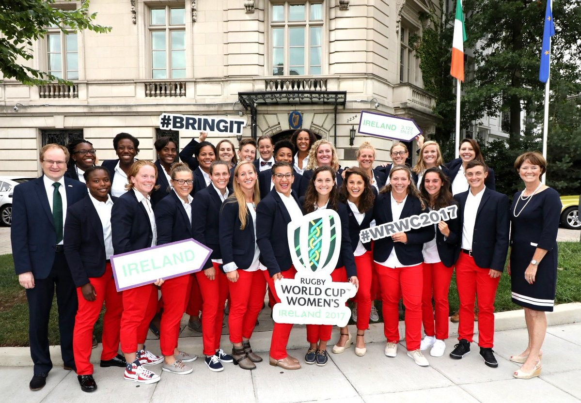 The US Eagles squad get ready for participating in the Women's Rugby World Cup that gets underway in Ireland ©WorldRugby