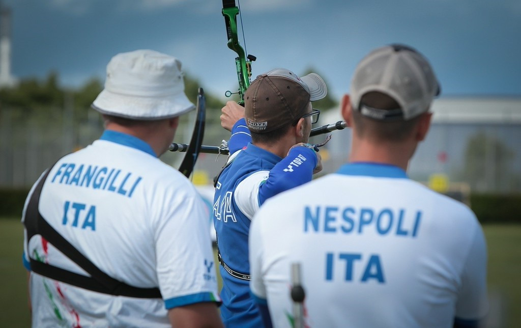 Olympic champions Italy progressed via a shoot-out to claim a Rio 2016 berth ©World Archery