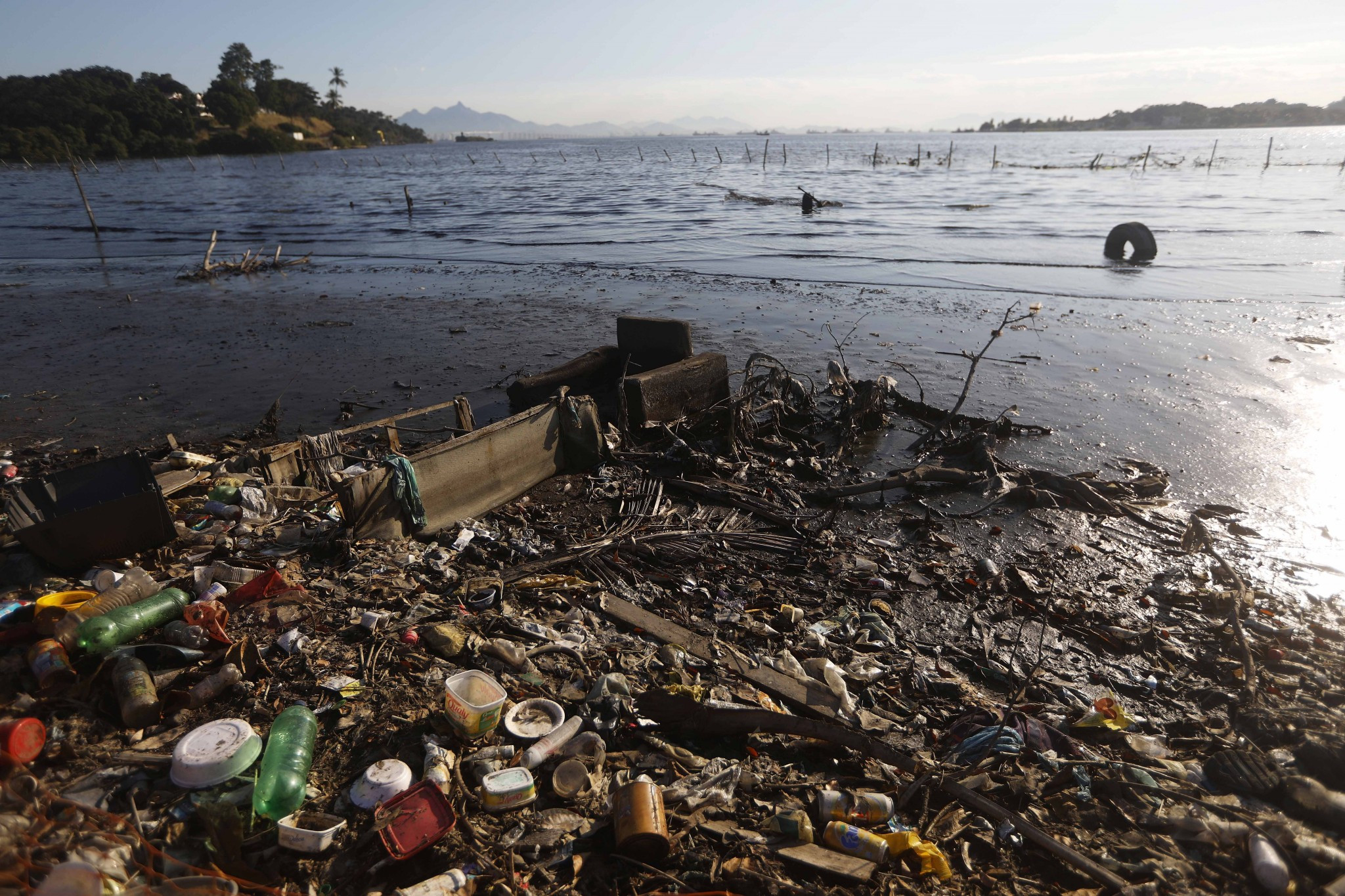 Protest held against Guanabara Bay water pollution one year on from Rio 2016