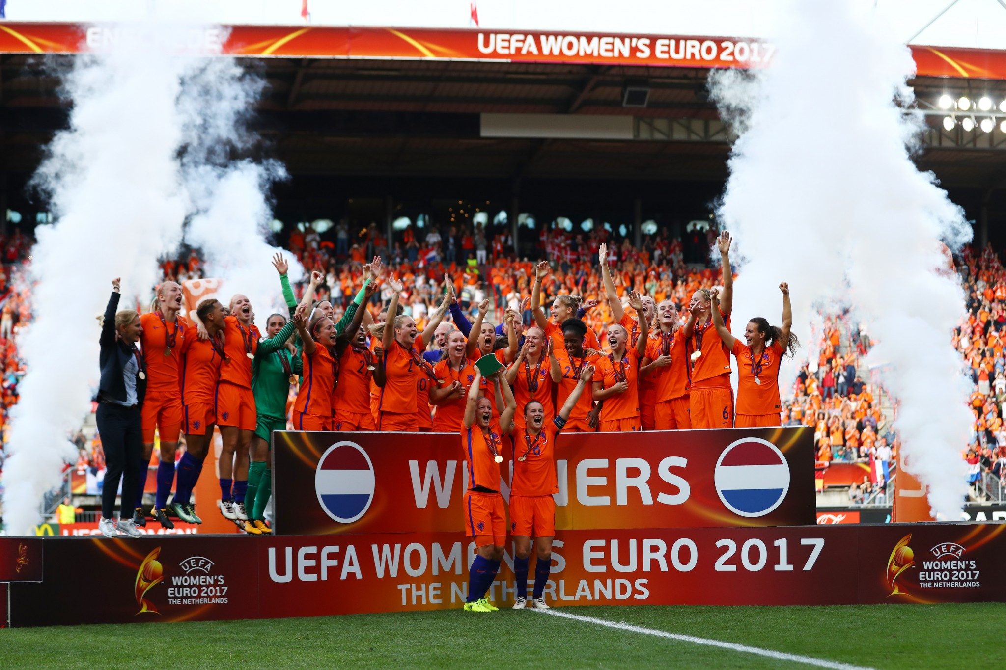 Dutch delight as hosts win thrilling UEFA Women's European Championships final against Denmark