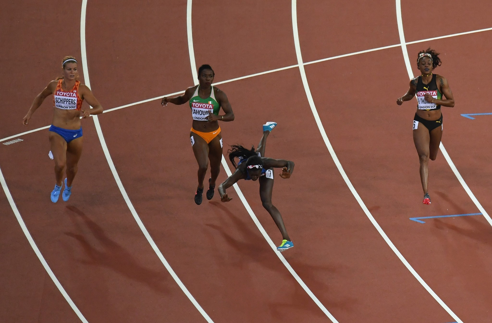 Tori Bowie flung herself to 100m glory ©Getty Images