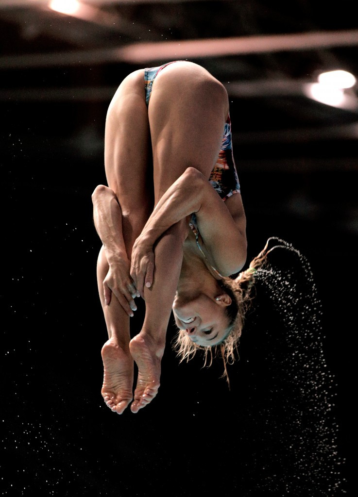 Italy's Tania Cagnotto won the women's one metre springboard event to end China's monopoly of the diving world titles ©Getty Images