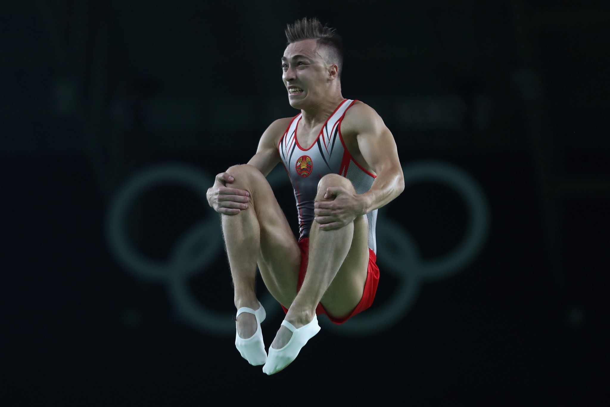 Uladzislau Hancharou won an Olympic gold medal in trampoline for Belarus at Rio 2016 ©Getty Images