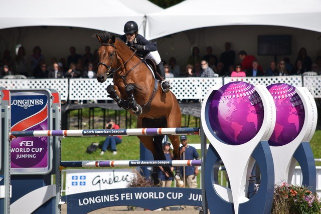Isabelle Lapierre claimed her first World Cup qualifier victory ©FEI