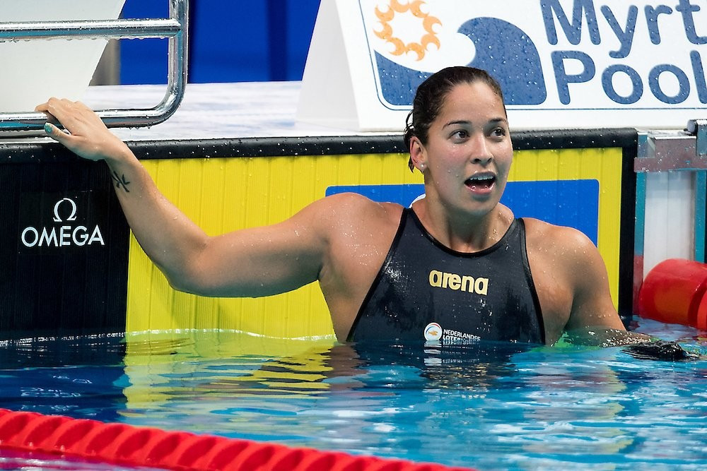 The Netherlands' Ranomi Kromowidjojo set a world record on her way to a gold medal today ©FINA