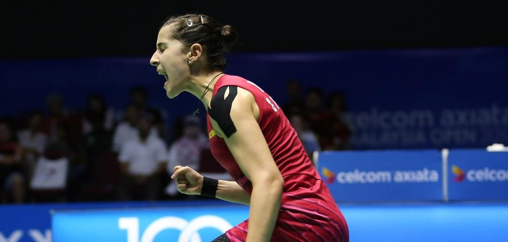Spain's Rio 2016 champion Carolina Marín is on the brink of a historic achievement at the BWF World Tour Finals in Bangkok ©Getty Images