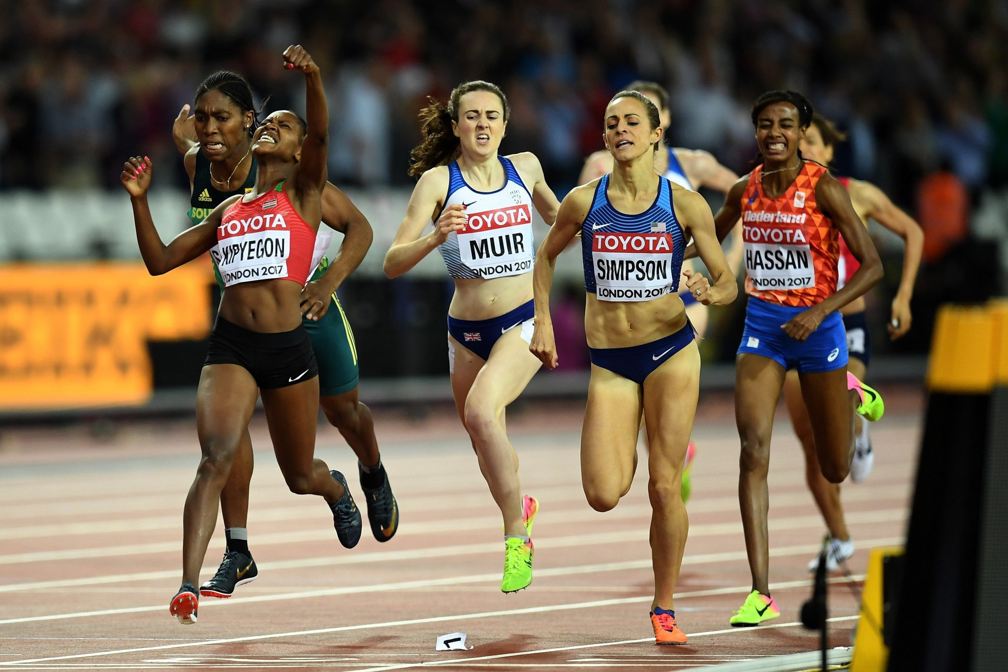 Kipyegon adds world 1500m title to Olympic crown on day four at World Athletics Championships