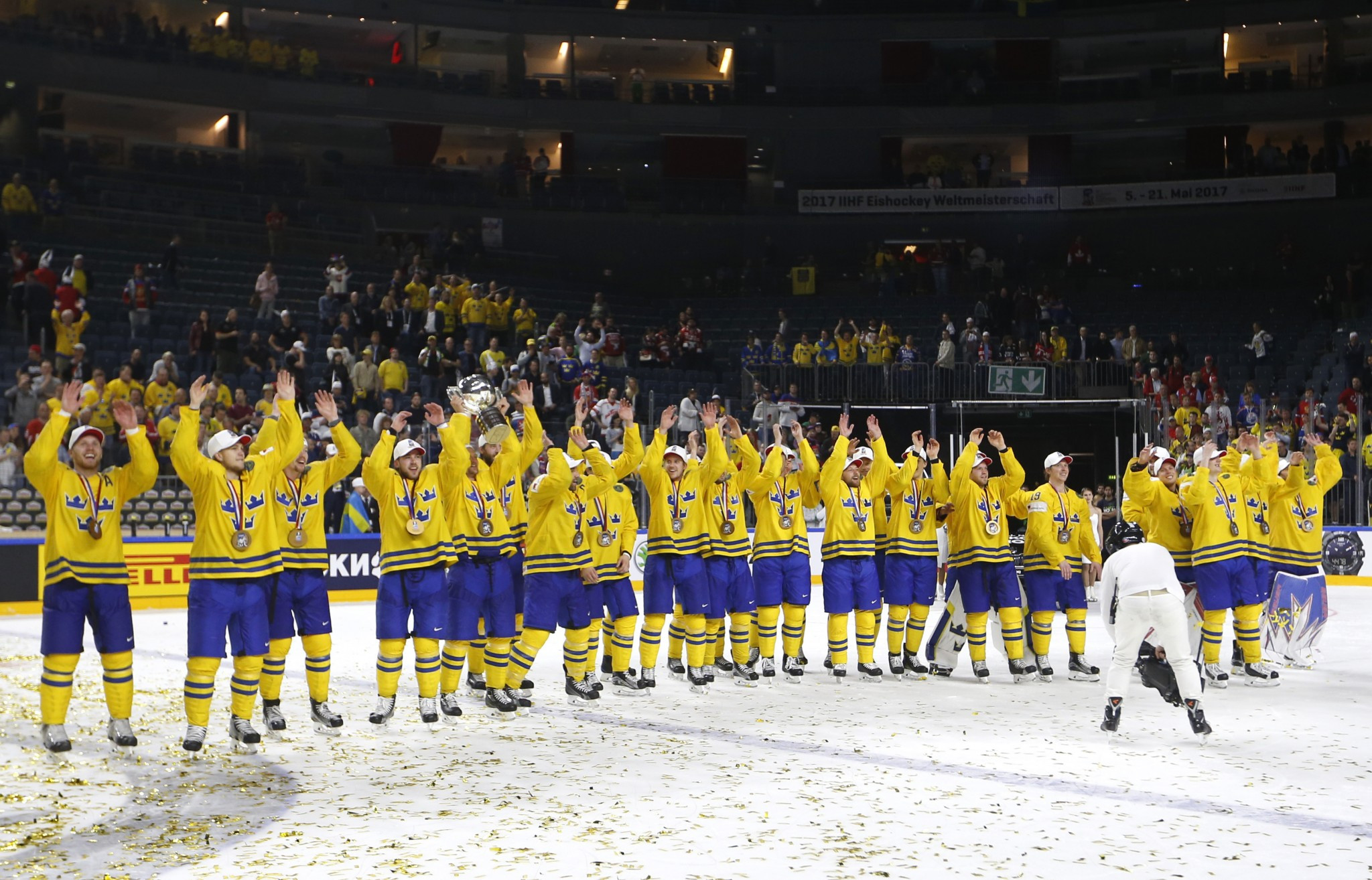 Holders Sweden will face Belarus in their opening match of the 2018 IIHF World Championships ©Getty Images