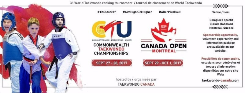 Both events will take place at the Complexe sportif Claude-Robillard in Montreal ©Taekwondo Canada